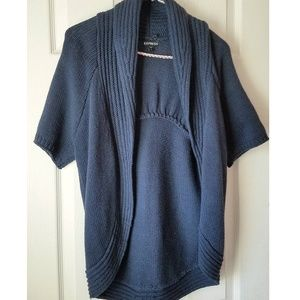 Express Navy Blue Short Sleeve Cardigan